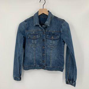 Kut from the Kloth distressed jean jacket denim XS